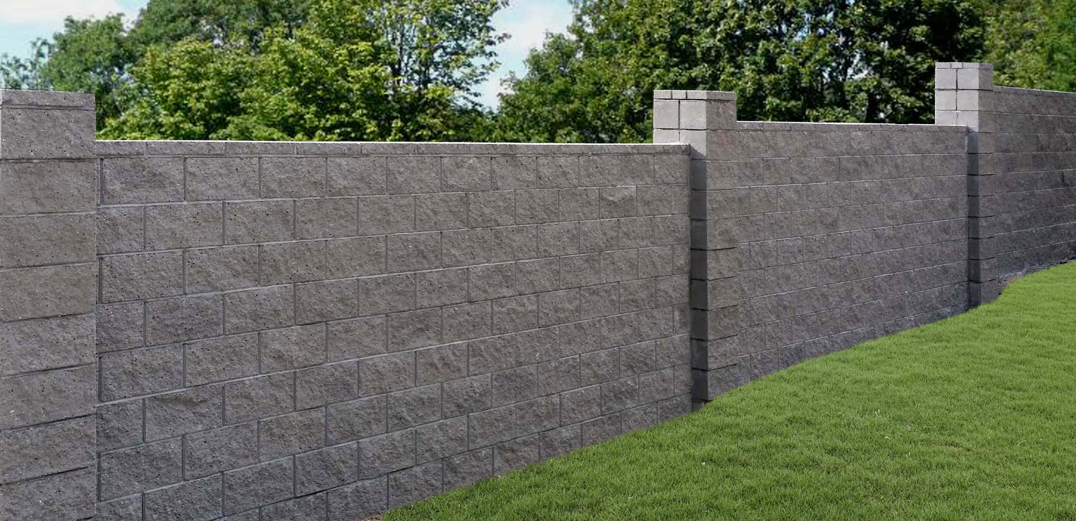 Singleton fence block fence for Split face block house