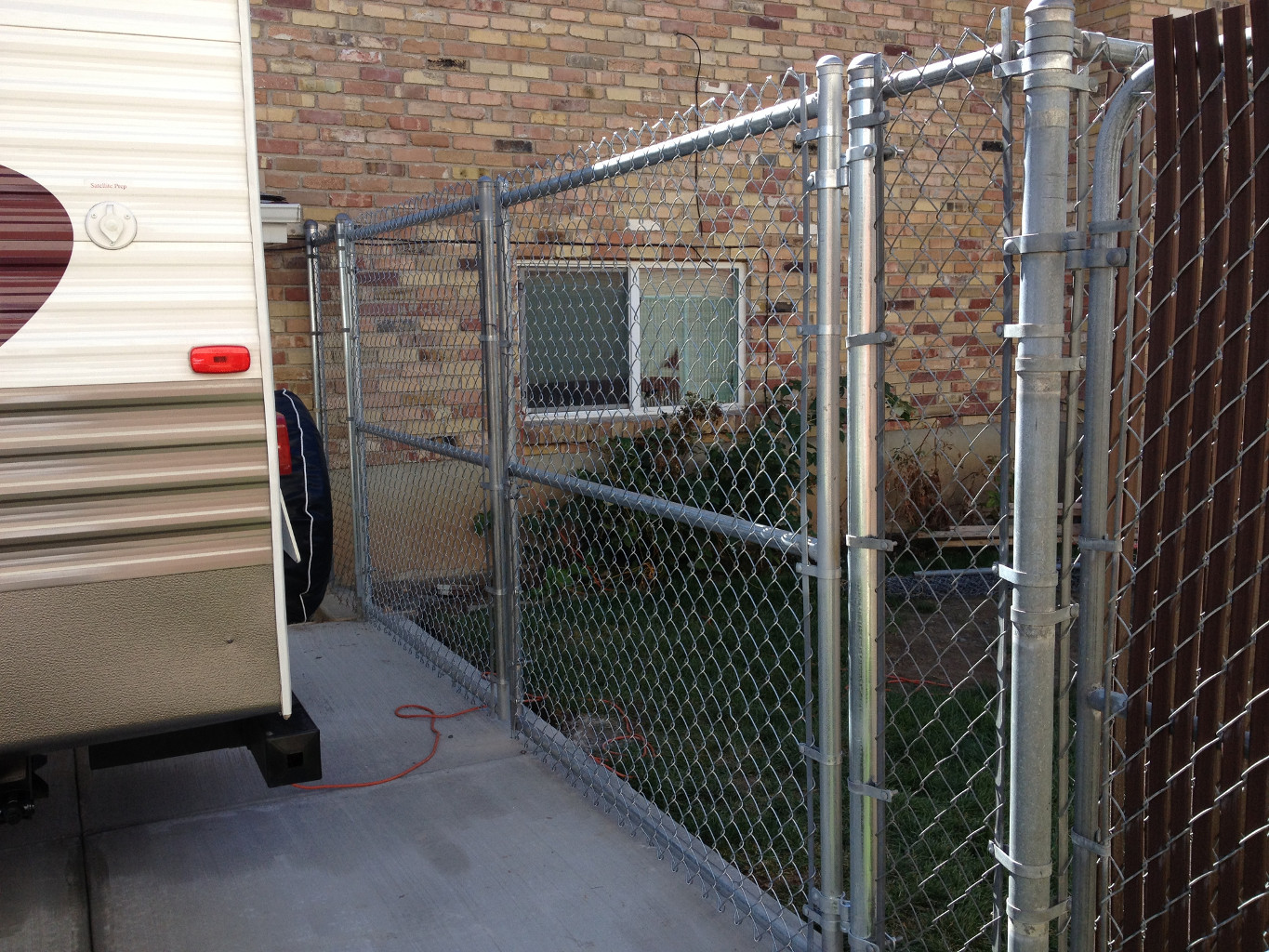 12 Ft Double Gate Galv Chain Link